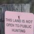 Limiting Public Hunting